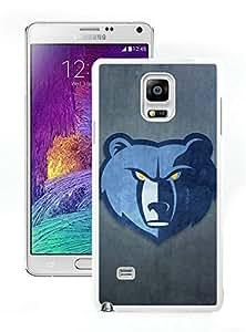 New Custom Design Cover Case For Samsung Galaxy Note 4 N910A N910T N910P N910V N910R4 Memphis Grizzlies 2 White Phone Case