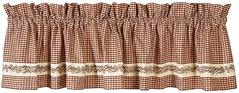 Park Designs Shade of Brown Lined Border Valance, 72 x 14