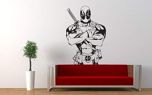 yiyiyaya Deadpool Vinyl Art Design Wall Mural Pegatinas Superhéroe ...