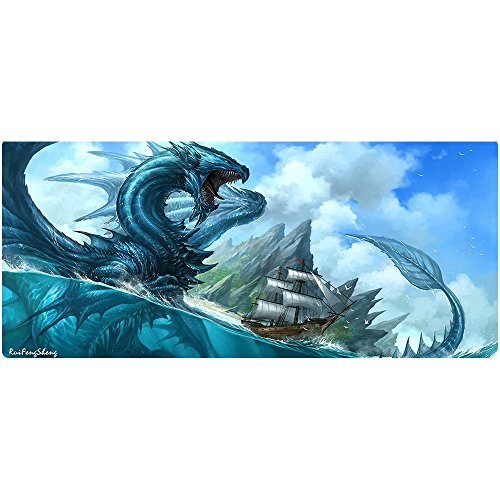 "51uFwy%2B8YpL - Ruifengsheng Large Gaming Mouse Pad ,Extra Large Size Mat,Extended XXL Size Mouse Pad, Non-slippery Rubber Base,(Edge Stitched) (35.4"" 15.7"")"