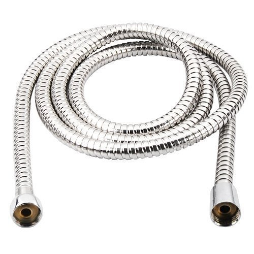 Accessotech 2m Flexible Stainless Steel Chrome Standard Shower Head Bathroom Hose Pipe