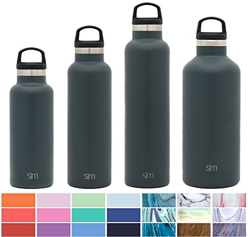 Simple Modern 17Oz Ascent Water Bottle   Stainless Steel Hydro Kids Flask W Handle Lid   Double Wall Vacuum Insulated Grey Reusable Tumbler Small Metal Coffee Leakproof Thermos   Graphite