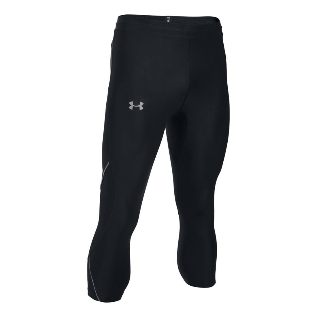 Under Armour Men's Run True ¾ Leggings, Black /Reflective, Large by Under Armour (Image #1)