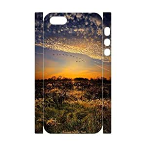 3D Bumper Plastic Customized Case Of Sunset for iPhone 5,5S