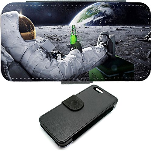 Astronaut Funny iPhone 4Case Wallet Space Quirky Universe Bier