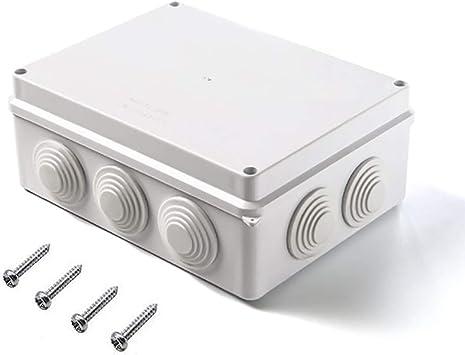 Magiin 1pcs Caja de Conexiones Eléctricas con 4 Tornillos ABS ...