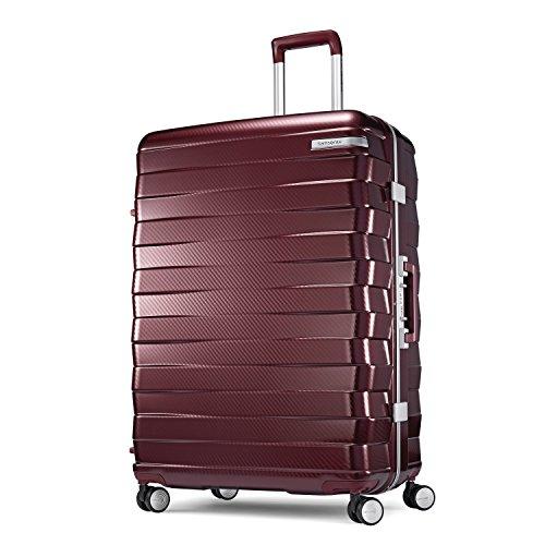 Samsonite Luggage Lock (Samsonite Framelock Hardside Checked Luggage with Spinner Wheels, 28 Inch, Cordovan)