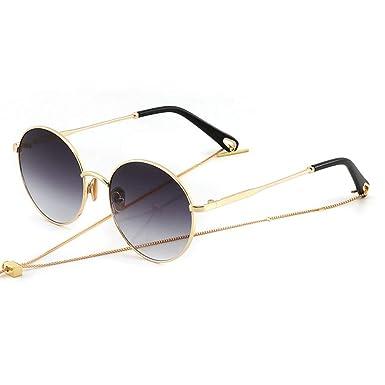 NIFG Gafas de sol retro de la protección UV de la cadena de ...