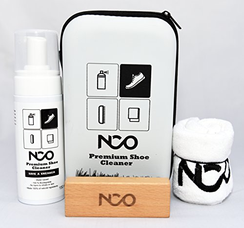Premium Shoe Sneaker Cleaner Kit 150 ML Bottle Natural Foam Solution Set with Brush and Microfiber Towel Cloth Water Based Formula All in One Portable Kit by NCO (Image #7)