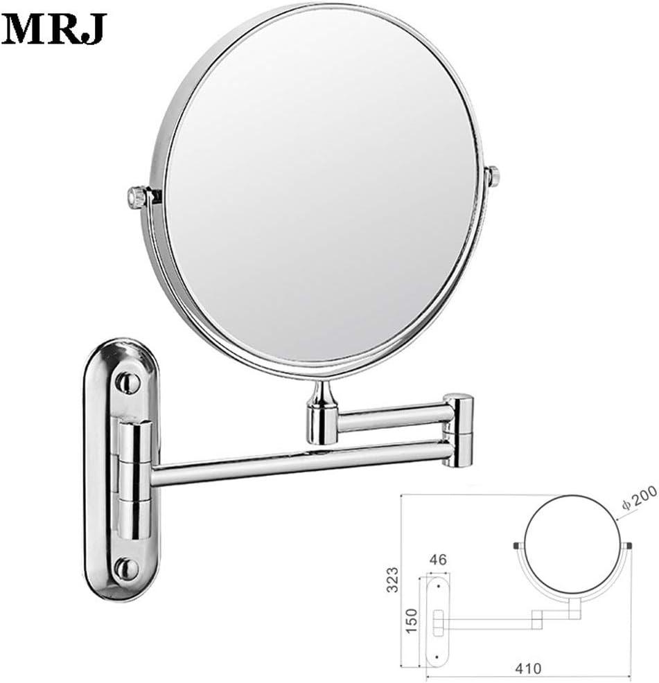 Spa et de lH/ôtellerie 6 Pouces Double Face Mirror Mural Miroir avec Bras articul/é 360 Degr/és Pivotant Miroir Mural Grossissant x3 pour Salle de Bain