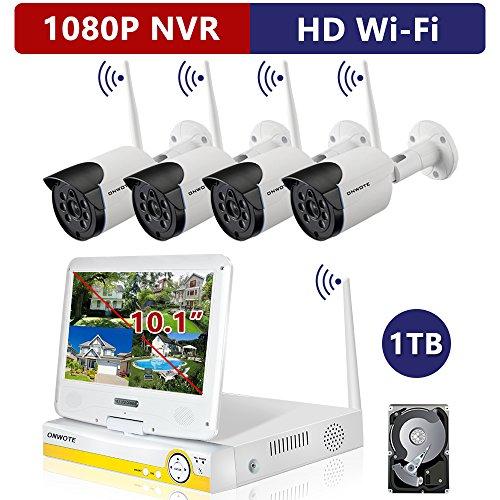 ONWOTE Plug n Play All-in-One 1080P HD NVR Wireless WiFi ...