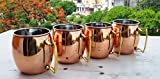 Yadav Handicrafts Moscow Mule 100 % Solid Pure Copper Mugs Cups...