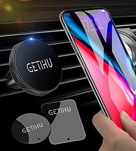 GETIHU Car Phone Mount Universal Air Vent Magnetic Cell Phone Holder for iPhone X 8 7 6s 6 5s 5 Plus Samsung HTC Motorola BlackBerry Smartphone GPS -