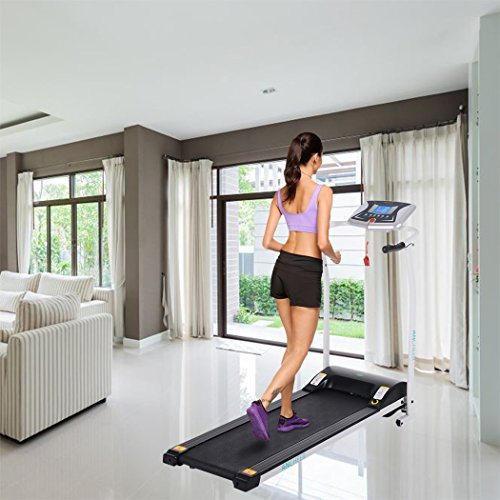 Folding Electric Treadmill Incline, Power Motorized Fitness Running Machine Walking Treadmill(US Stock) (1.5 HP/White) by Tomasar (Image #2)