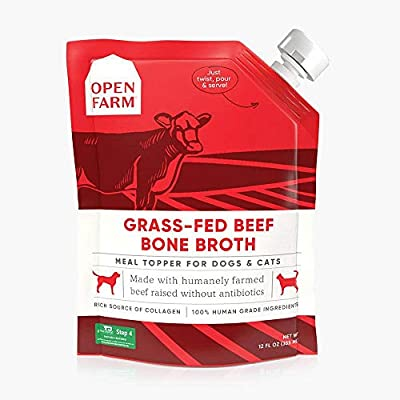 Open Farm Grass-Fed Beef Bone Broth for Dogs and Cats 12 Fluid Ounces