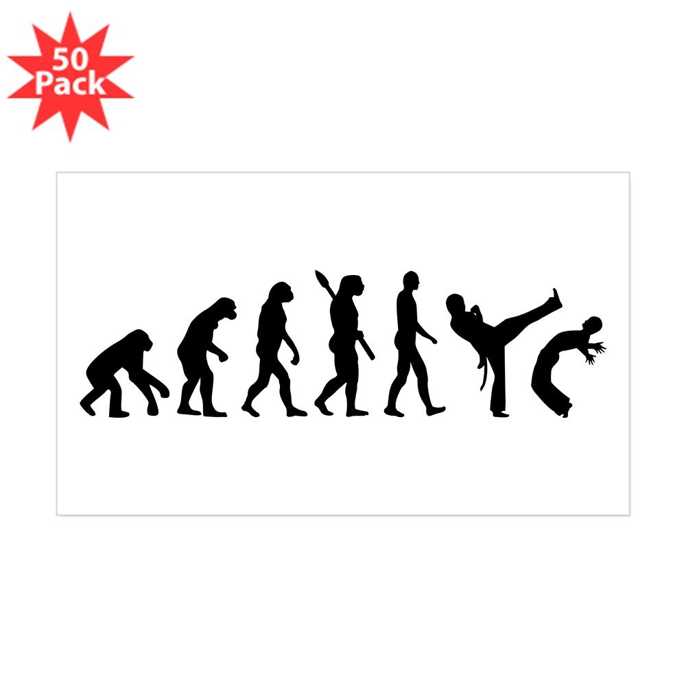 CafePress – Evolution Capoeira – ステッカー(長方形50 pk ) 071088919233332 B073XCHSQF  ホワイト