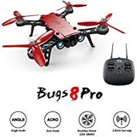 MOSTOP Bugs 8 Pro RC Drone Quadcopter B8PRO 2.4G 6-axis Gyro 4CH 3D Flips Angle/Acro Mode Switch High Speed RC Drone with 5.8G FPV camera, D43 4.3 LCD RX Display, FPV Goggles (Bugs 8 Pro RC Drone)