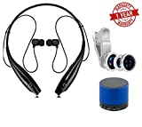 MacBerry Redmi 3S Compatible Portable Wireless Stereo Bluetooth Sports Headphones with Mic & 3 in 1 Camera lens & Bluetooth Speaker(Random Color)