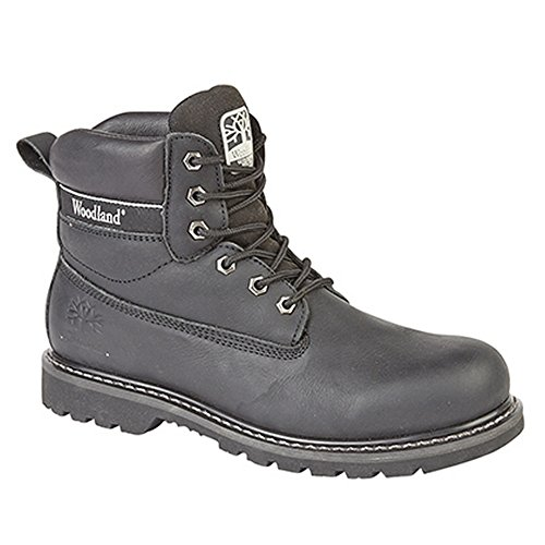 Woodland Mens 6 Eye Padded Utility Boots (10 US) (Black)
