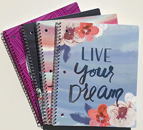 Studio C Silver Lining Collection 4-Pack Compositon 1-Subject Notebooks