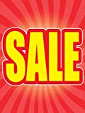 Sale Store Business Retail Display Signs, 18''x24'', Full Color, 5 Pack