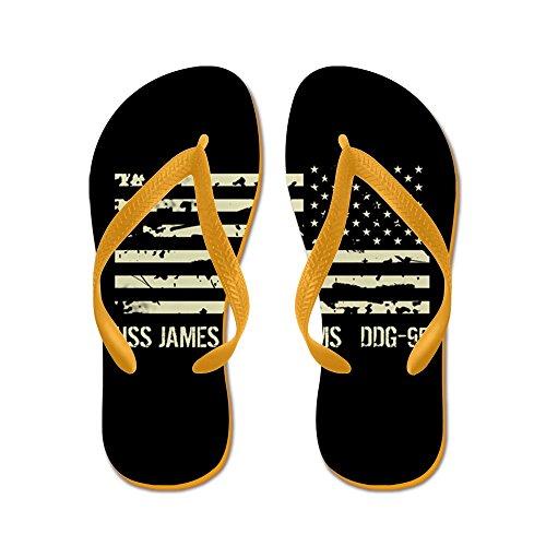 Cafepress Uss James E. Williams - Flip Flops, Roliga Rem Sandaler, Strand Sandaler Apelsin