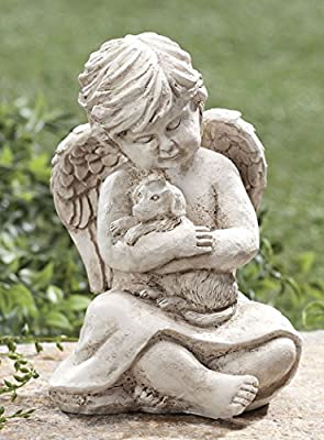 Angel with Dog Memorial Statue
