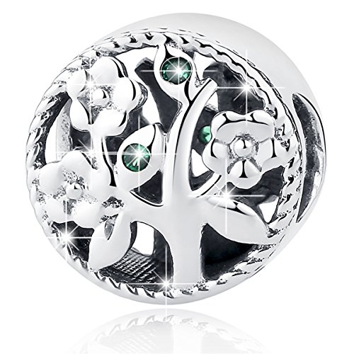 - BAMOER Tree of Life Charms 925 Sterling Silver Tree Charms Beads Pendants Fit for Bracelet Necklace Perfect Gift fro Her