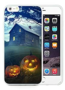 Fashion Style iPhone 6 Plus Case,Halloween White iPhone 6 Plus 5.5 TPU Case 6
