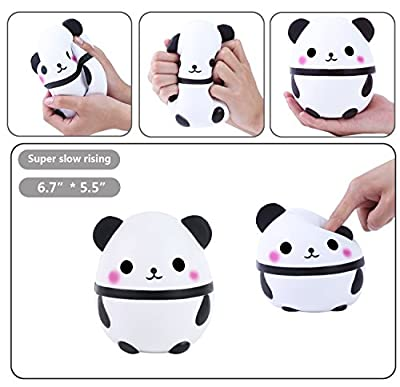 Aolige Jumbo Cute Panda Kawaii Cream Scented Squishies Very Slow Rising Kids Toys Doll Gift Fun Collection Stress Relief Toy Hop Props, Decorative Props Large by MiaoZhen