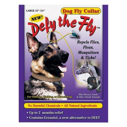 """Defy the Fly Dog Fly Collar - Large 21"""" - 24""""."""
