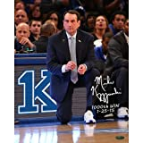 1000 wins coach k - NCAA Duke Blue Devils Unisex Mike Krzyzewski Signed 1000 Win Photo with 1000th Win and Date Insc, 16 by 20-Inch