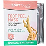 Beauty : Soft Touch Foot Peel Mask, Exfoliating Callus Remover (2 Pairs Per Box)