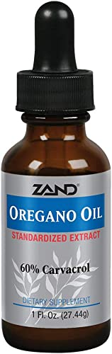 Zand Oregano Oil Immune Support Formula Standardized to Contain 60 Carvacrol Topical Internal Use, 1oz, 274 Servings