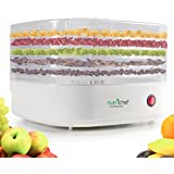NutriChef Food Dehydrator Electric For Beef Jerky Fruit Snacks Small Easy Carrying , White (PKFD06)
