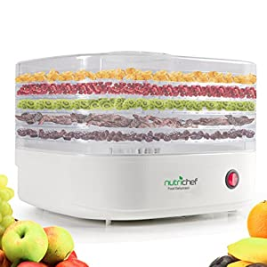 NutriChef Food Dehydrator Machine – Professional Electric Multi-Tier Food Preserver – Stop buying Jerky!