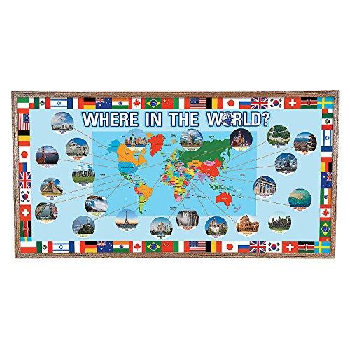 Around the World Bulletin Board Set (Geography Bulletin Board)