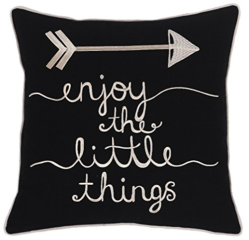 ADecor Pillow Covers Enjoy the little things Pillowcase Embroidered Pillow cover Decorative Pillow Standard Cushion Cover Boys Teen Girls Bedding Gift (18X18, (Halloween Bean Bag Toss Pattern)