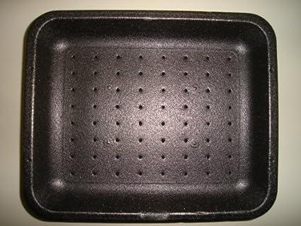 500 x bandejas para carne de poliestireno negro (14D) (free P&P en todos