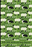 2020 - 2021 18 Month Daily Planner: Border Collies Hard at Work Herding Sheep Cover | Daily Organizer Calendar Agenda | 6x9 | Work, Travel, School ... lovers (Dog Lover Lifestyle Organizer Series)