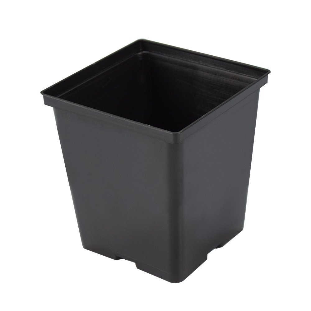 Funlife Nursery Pot- 1/2 Gal Square Nursery Pots for Seeds Start-Plastic Planer 5.5 by 5.5 Inch(24)