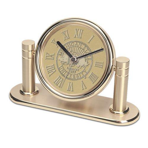 Desk Michigan State Clock - CSI Cannon Sports Michigan State Spartans Arcadia Desk Clock