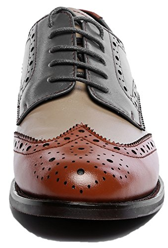 Perforated Vintage Brownblue lite Shoes Leather Oxford up Brogues Women's U Oxfords Flat Lace Wingtip q4nzqEHO