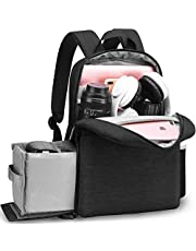 """CADeN DSLR SLR Camera Bag Backpack with 14"""" Laptop Compartment Waterproof for Women Men Photographers, Camera Case Backpack Compatible with Nikon Sony Canon Mirrorless Cameras Tripod Accessories (Black)"""