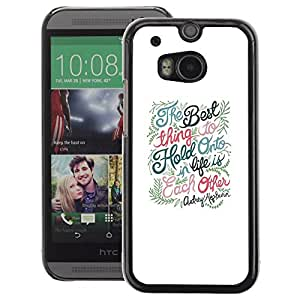 A-type Arte & diseño plástico duro Fundas Cover Cubre Hard Case Cover para HTC One M8 (Love Romantic Relationship Quote Valentines)