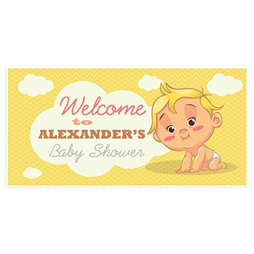 Paper Blastwelcome To Baby Shower Banner Personalized Party Backdrop Decoration Dailymail