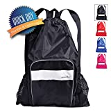 Athletico Mesh Swim Bag – Mesh Pool Bag with Wet & Dry Compartments for Swimming, The Beach, Camping and More (Black) Review