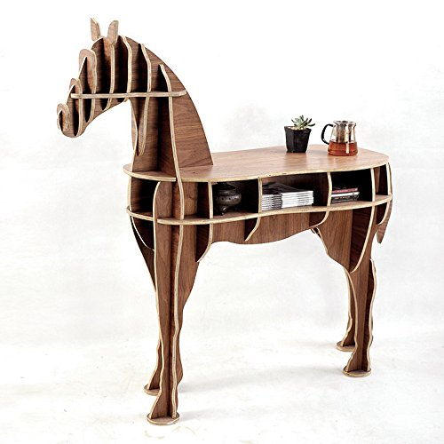 Other Home Office Wooden Horse Style Desk Black Walnut