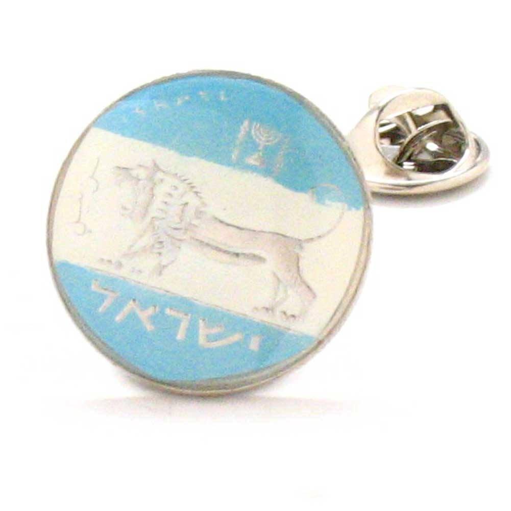 Marcos Villa Israel Coin Tie Tack Lapel Pin Suit Flag Israeli Rabbi Palestine Jewish Jew Bible Biblical
