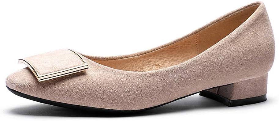 Comfort Faux Leather Chunky Heel Slip